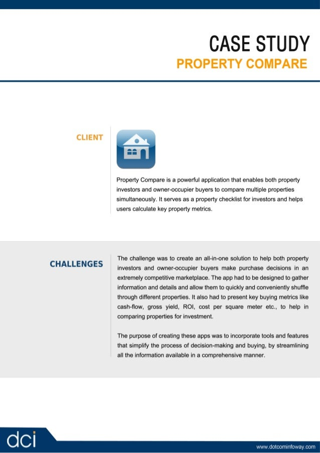 iPhone Application Development Case Study 02 - Property Compare
