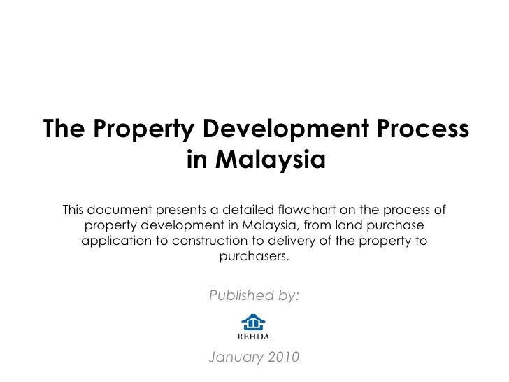 The Property Development Process in Malaysia Published by: January 2010 This document presents a detailed flowchart on the...