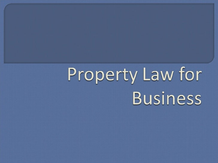 Property Law For Business