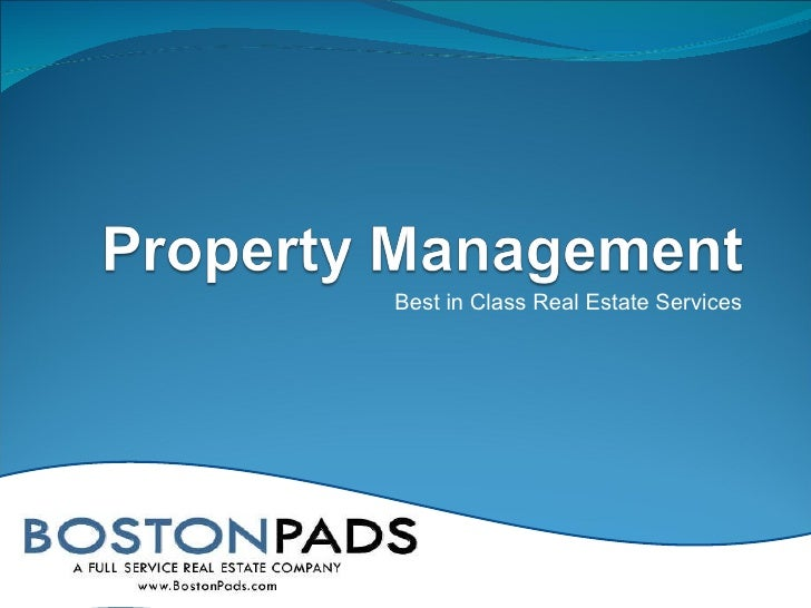 Best in Class Real Estate Services