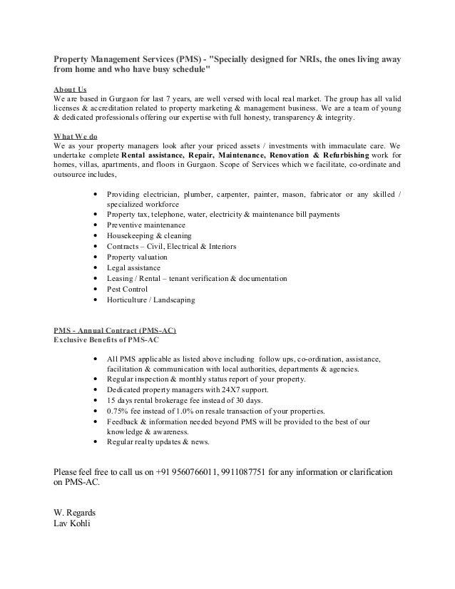 Gurgaon (Palam Vihar) - Property management services