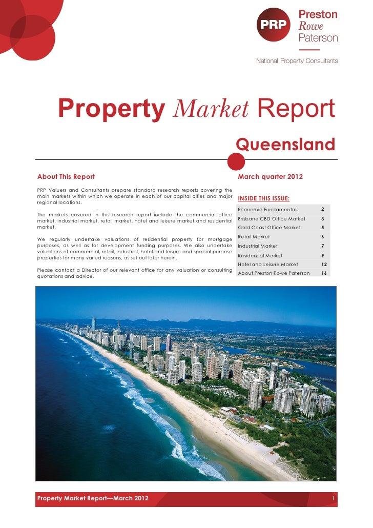 Property Market Report For Clients, Associates & Special Friends