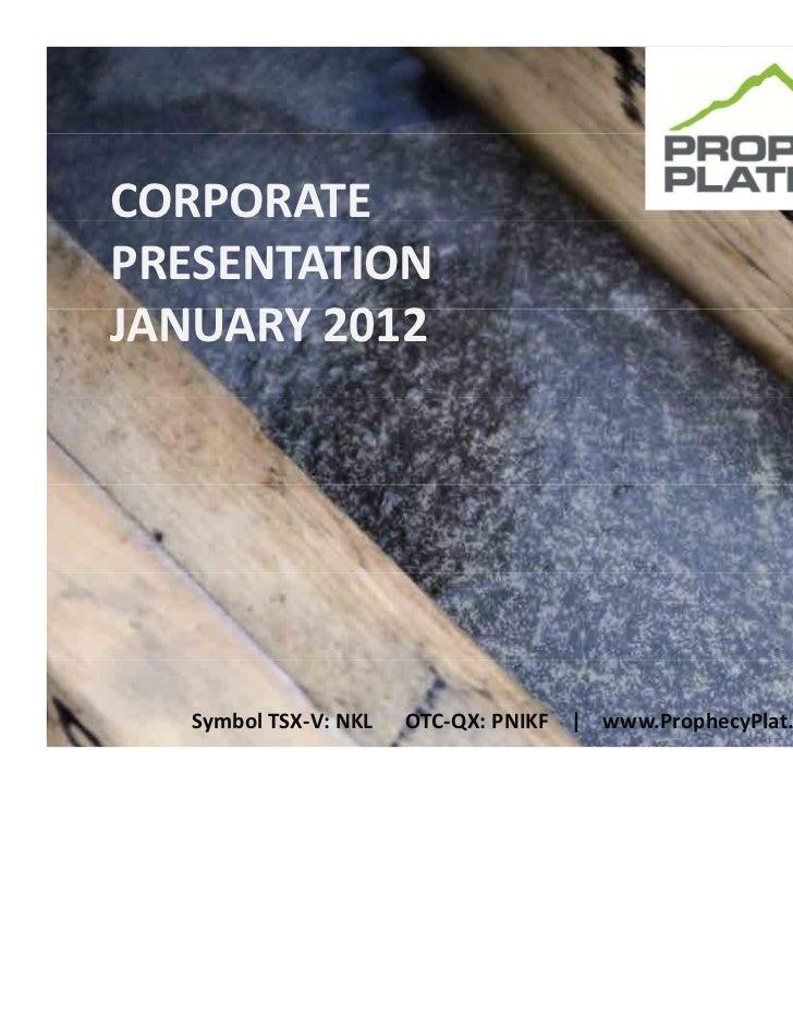 Prophecy platinum presentation