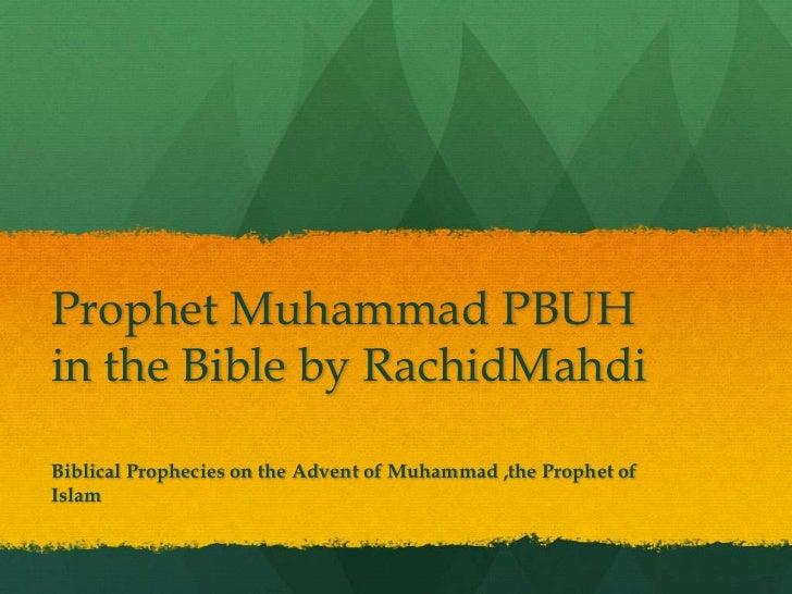 Prophet muhammad in the bible by rachidm