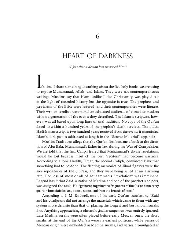 "6 HEART OF DARKNESS ""I fear that a demon has possessed him."" it's time I share something disturbing about the five holy bo..."