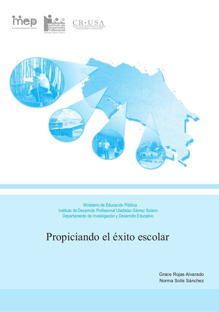 Ministerio de Educación Pública  Instituto de Desarrollo Profesional Uladislao Gámez Solano    Departamento de Investigaci...