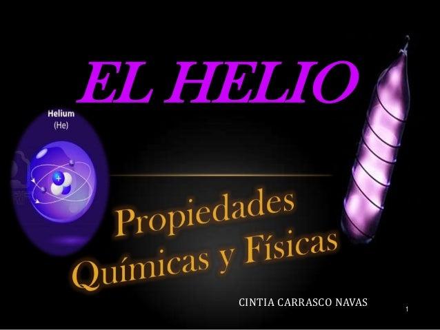 Propiedades del helio