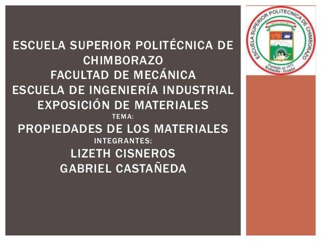 ESCUELA SUPERIOR POLITÉCNICA DE          CHIMBORAZO     FACULTAD DE MECÁNICAESCUELA DE INGENIERÍA INDUSTRIAL   EXPOSICIÓN ...