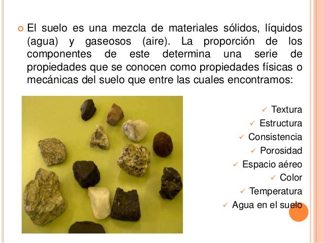 Propiedades f sica de los suelos for Caracteristicas de los suelos