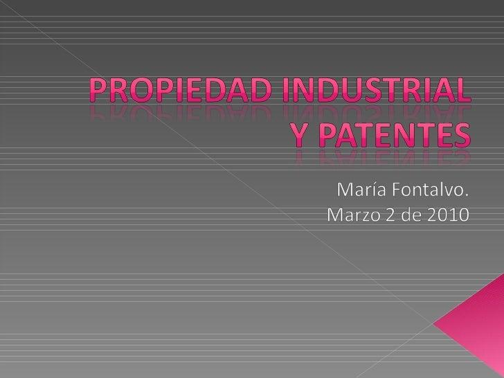 Propiedad Industrial y Patentes