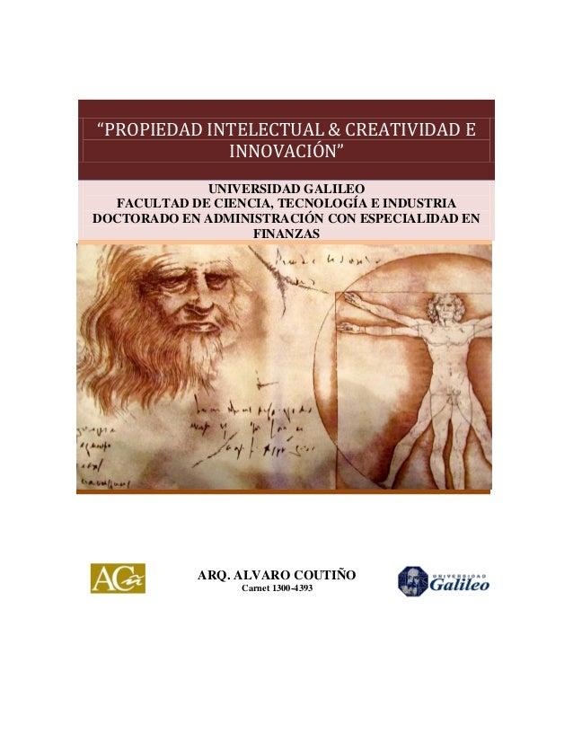 Propiedad intelectual creatividad e innovación