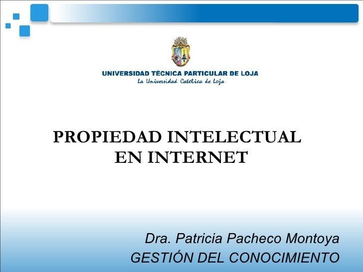 Propieddad Intelectual En Internet