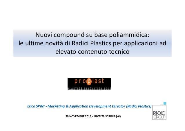 Nuovi compound su base poliammidica: le ultime novità di Radici Plastics per applicazioni ad elevato contenuto tecnico