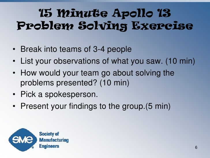 Open ended problem solving