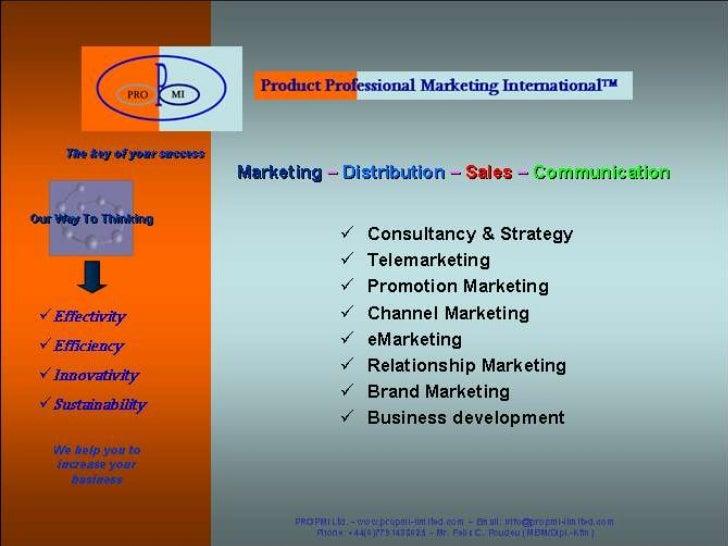 2011 ©PROPMI Ltd. - www.propmi-limited.com – Email: info@propmi-limited.com - Phone: +44(0)7791438025PROPMI Ltd. - www.pro...
