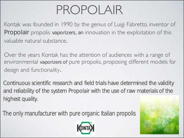 Propolair Scientific and Clinical Studies