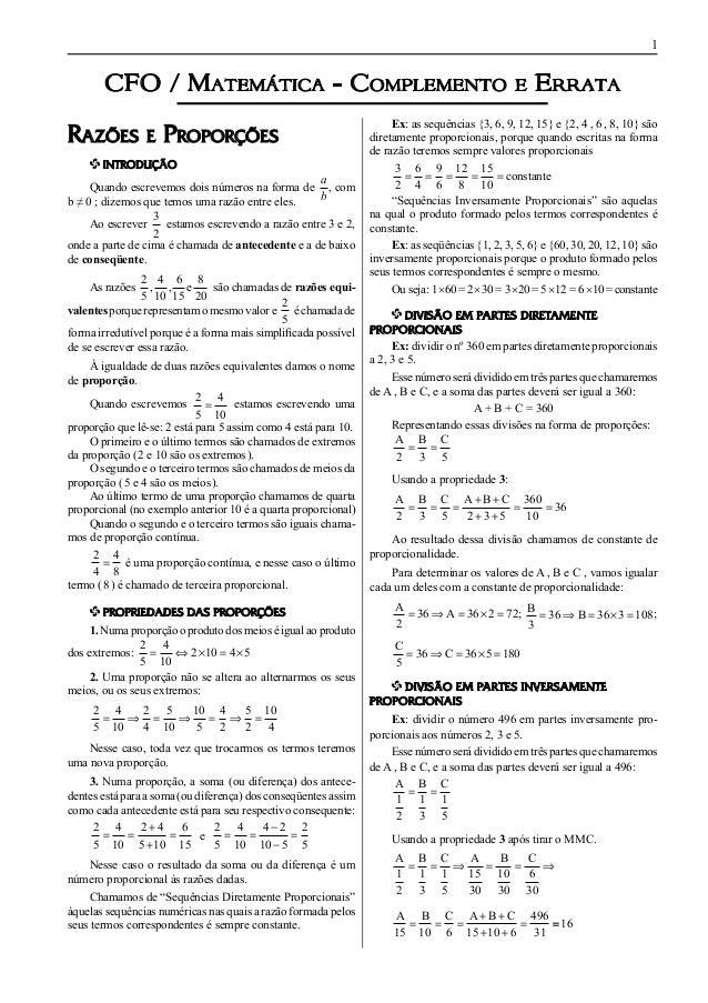CFO / Matemática - Complemento                                                           e    Errata                      ...