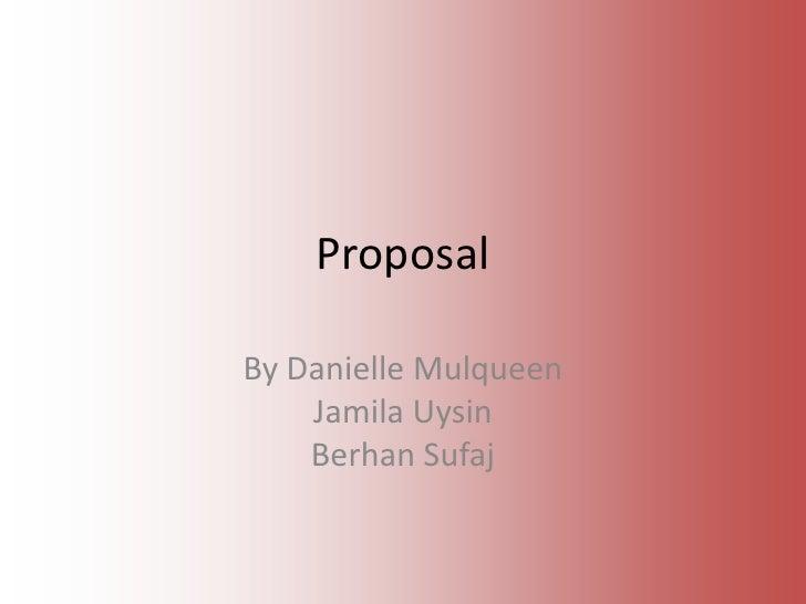 Thriller proposal