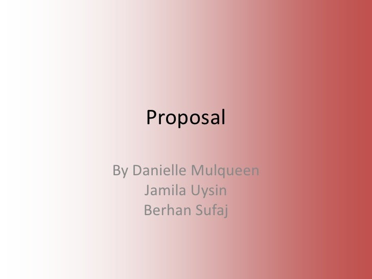 Thriller proposal
