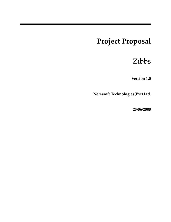 ProjectProposal                        Zibbs                       Version1.0   NetrasoftTechnologies(Pvt)Ltd....