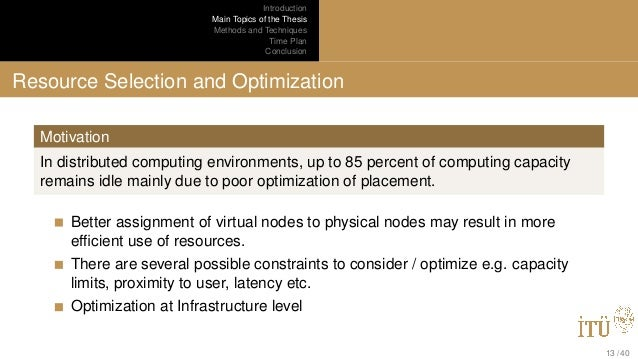 Distributed Computing Thesis