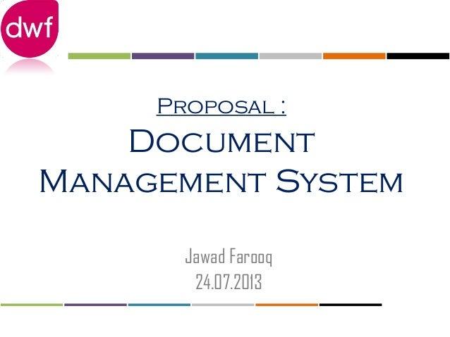 Proposal   DMS