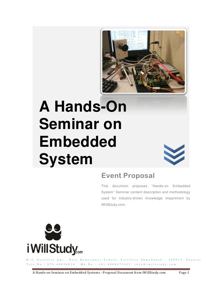 Seminar and workshop on Embedded Systems
