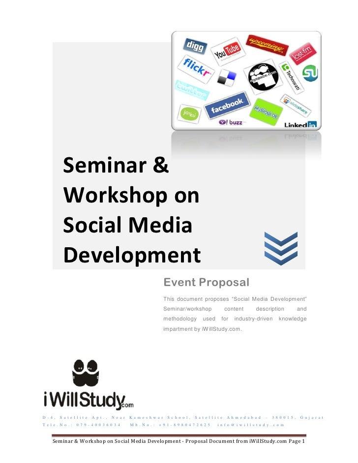 Seminar &            Workshop on            Social Media            Development                                           ...