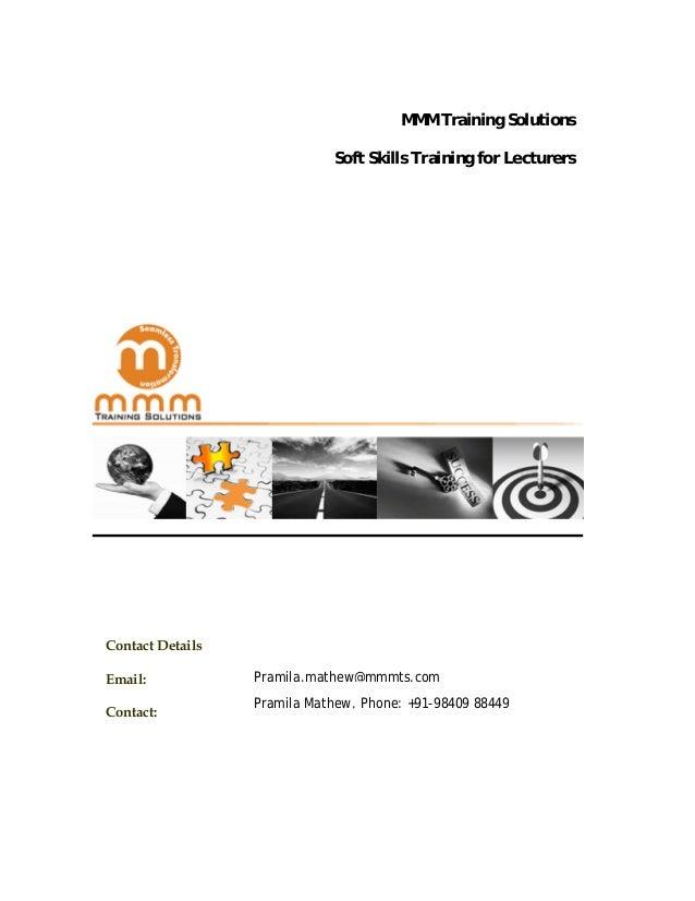 Proposal   soft skills training - teachers