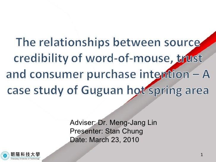 Adviser: Dr. Meng-Jang Lin Presenter: Stan Chung Date: March 23, 2010