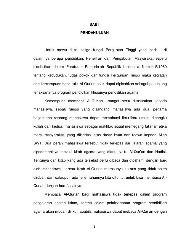 Proposal al qur'an baru