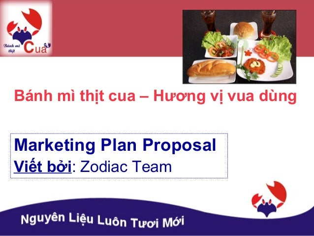 Proposal dự án cửa hàng Bánh Mì Thịt Cua