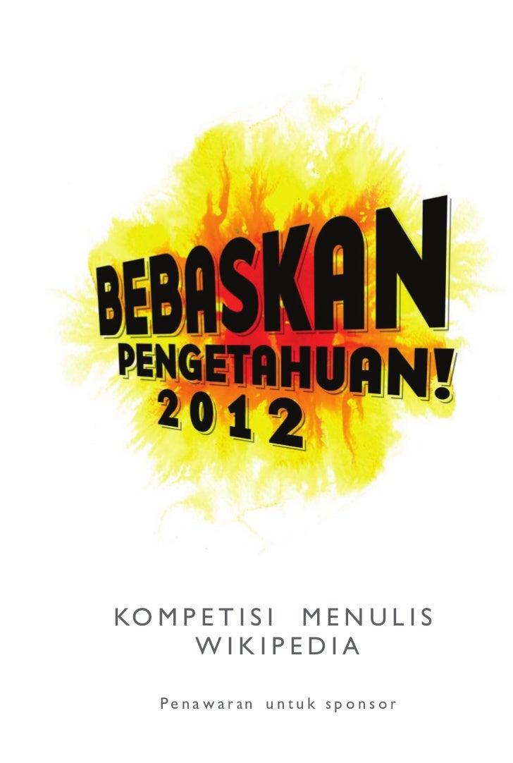 Proposal Bebaskan Pengetahuan 2012