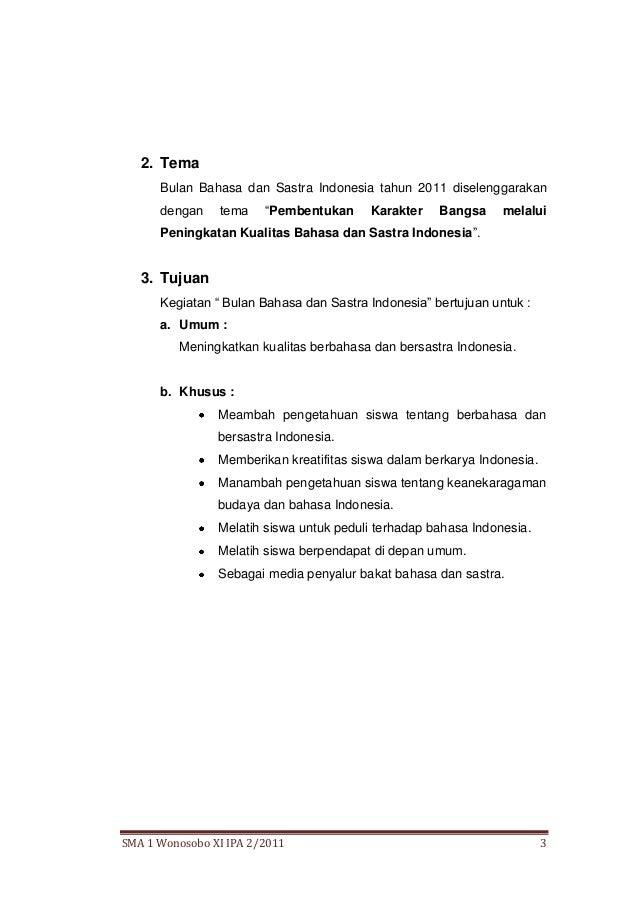 Bulan Bahasa 2011 Tema Bulan Bahasa Dan Sastra