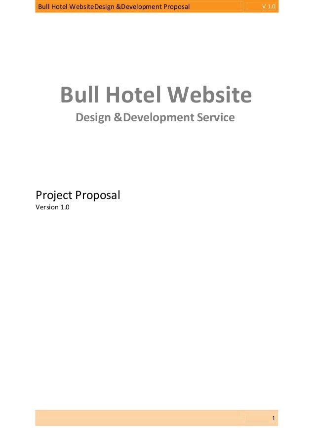 Proposal bull hotel website design & development