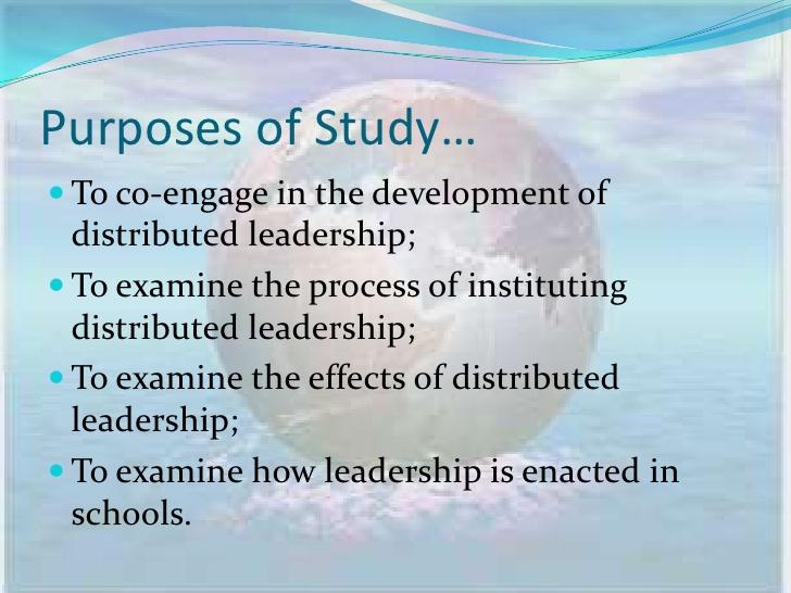 Distributive leadership project; leaders - PDF