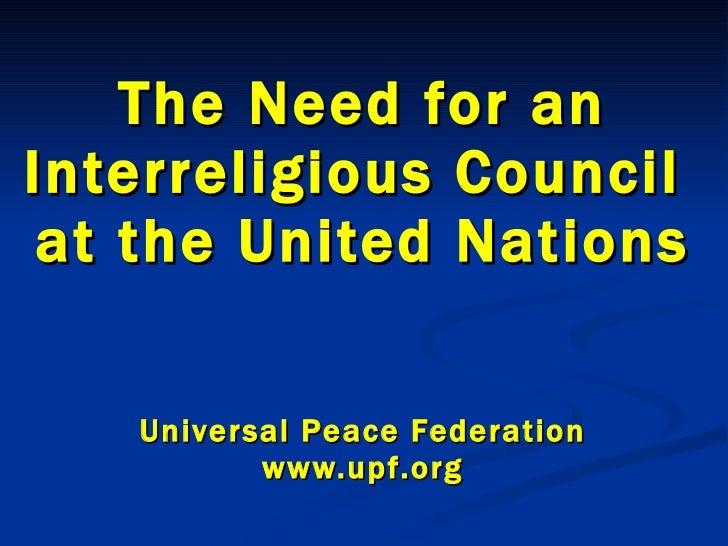 Interreligious Council at the UN