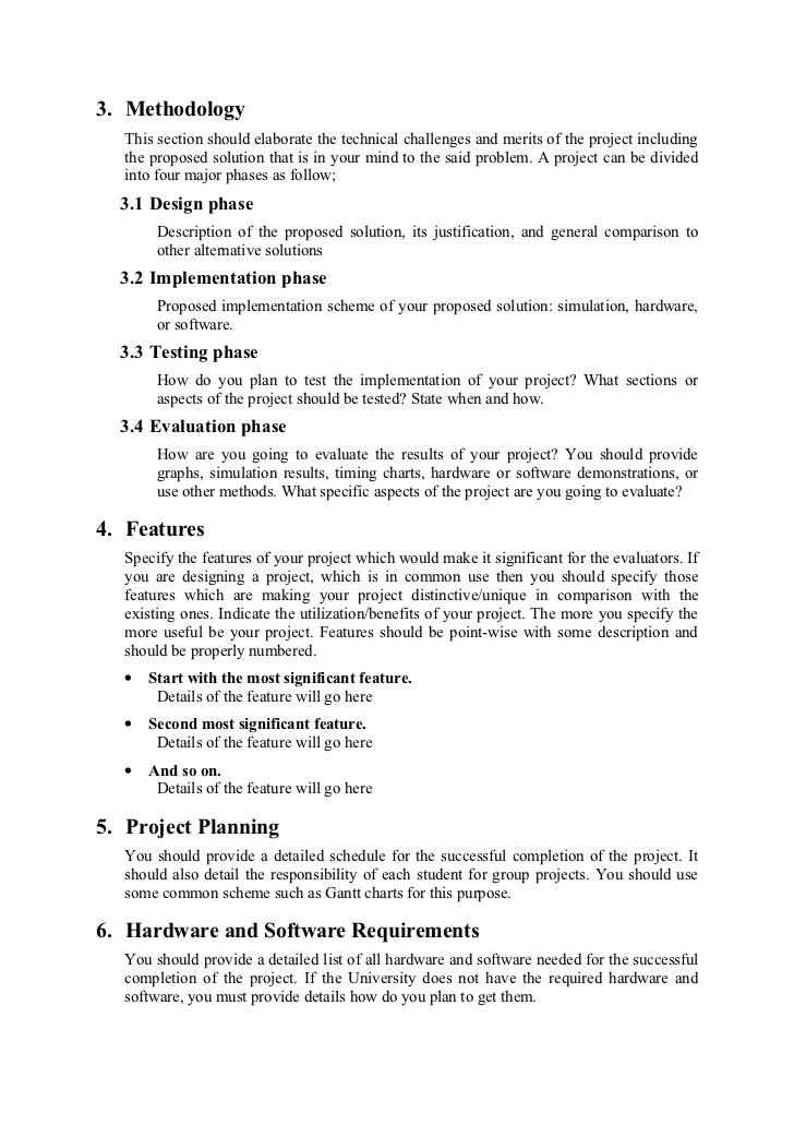 methodology in proposal