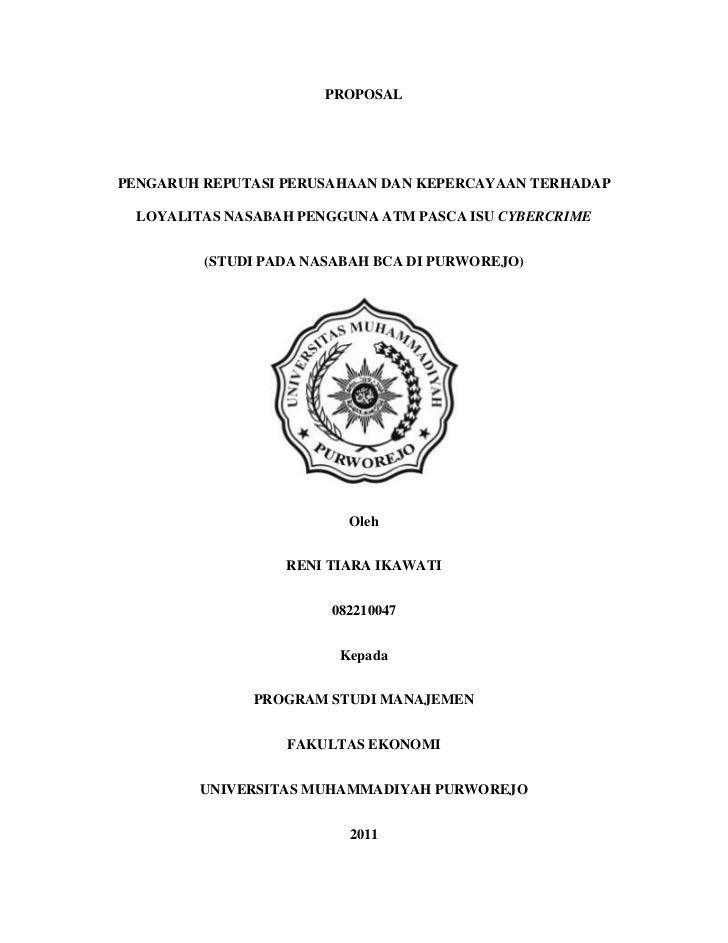 Pengaruh Reputasi dan Kepercayaan nasabah terhadap loyalitas nasabah pengguna ATM Pasca Isu Cybercrime (Studi Pada Nasabah BCA Purworejo)