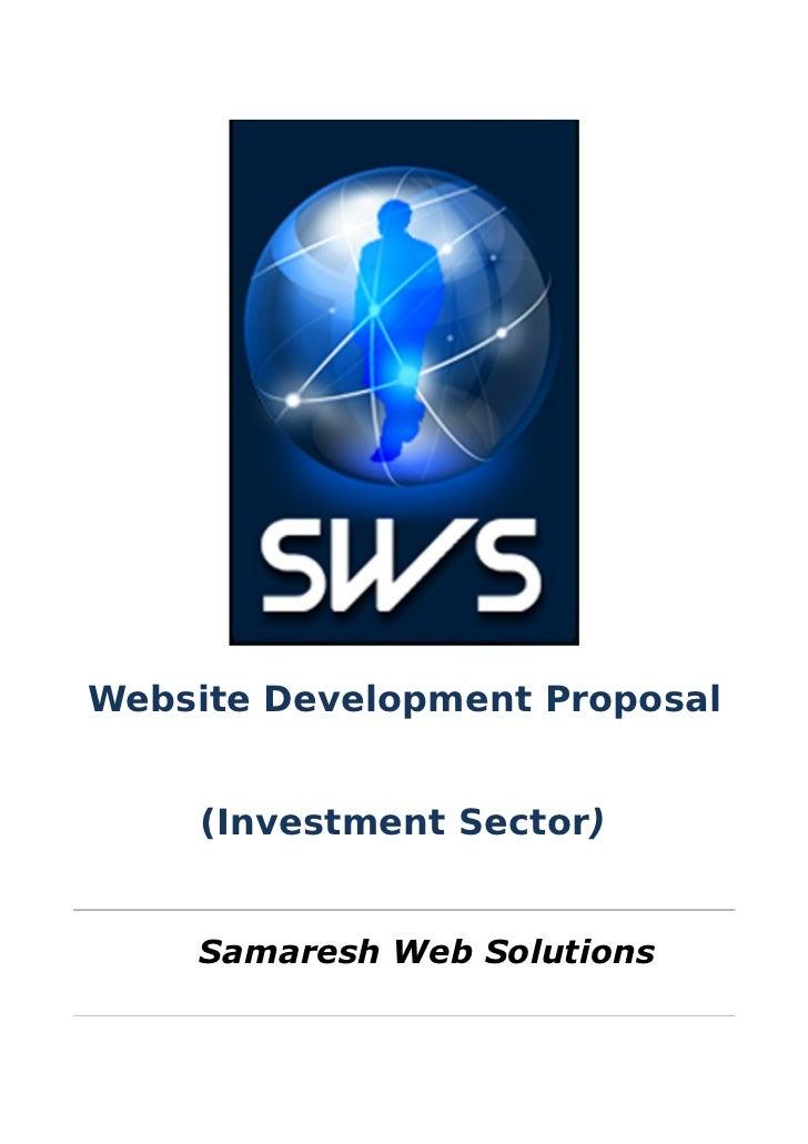 Proposal Investment Sector Website Development
