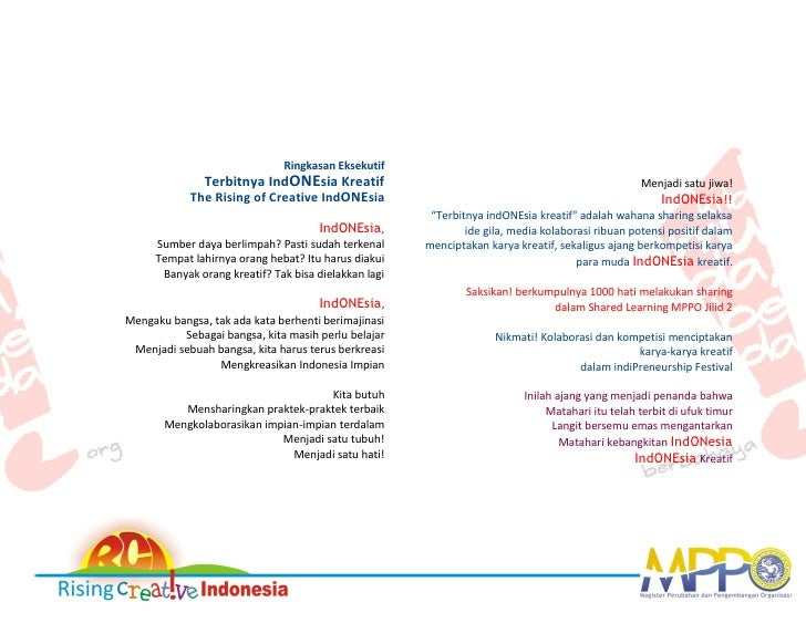 The Rising of Creative Indonesia