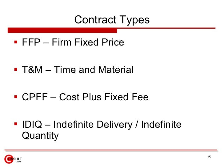 Cost plus fixed fee level of effort contracts for Cost plus contract example