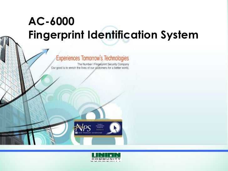 AC-6000 Fingerprint Identification System