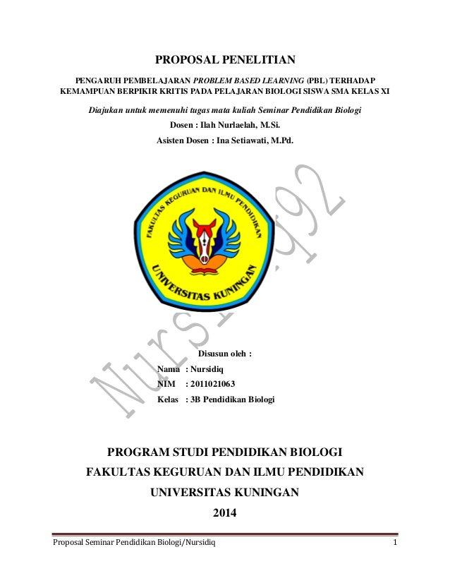 Jurnal Proposal Seminar Pend. Biologi