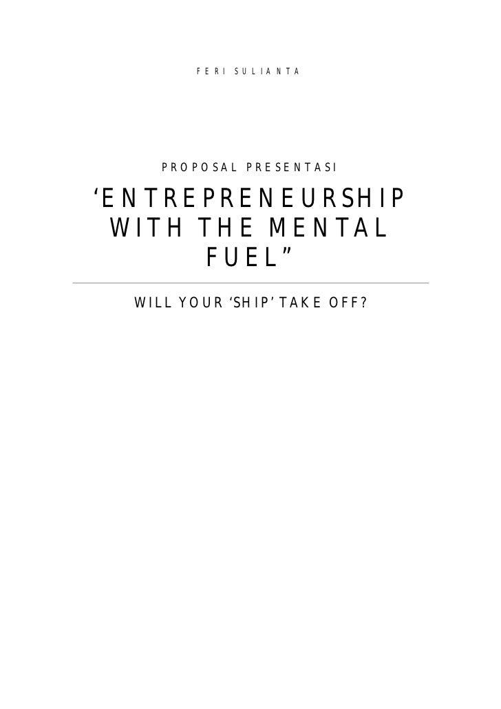 entreprenuership with mental fuel
