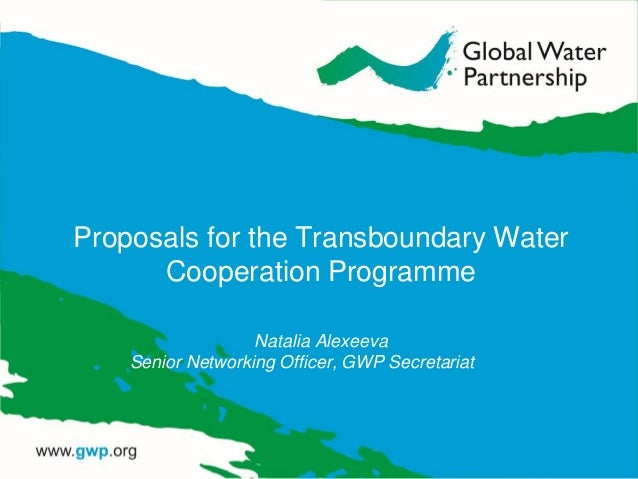 Proposals for the transboundary water cooperation programme_natalia alexeeva_30 aug