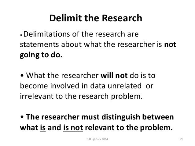 how to write scope of research proposal