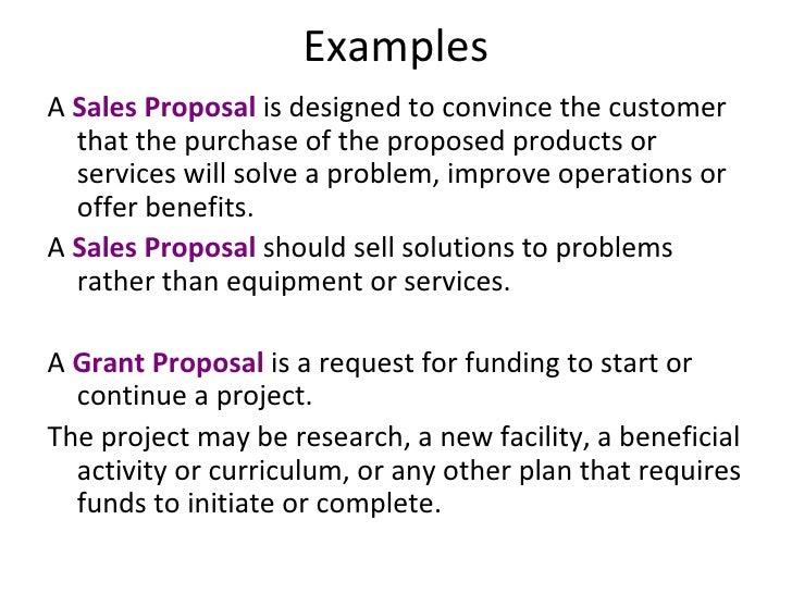 sample sales proposals