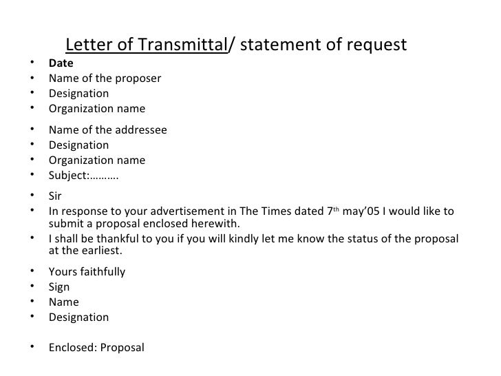 Doc468600 Letter of Transmittal Example Proposal Transmittal – Example of Transmittal Letter