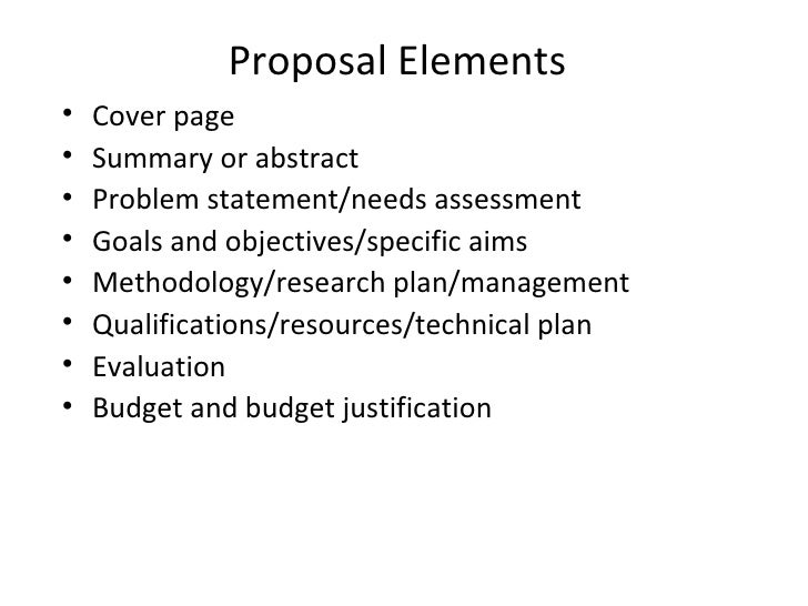 Cover page for research proposal